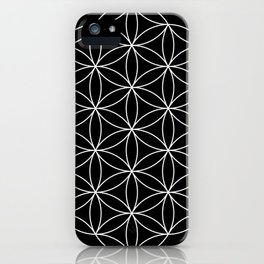 Flower of Life Black & White iPhone Case