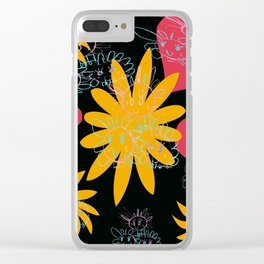 Three Smiles Clear iPhone Case