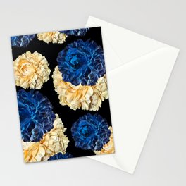 CABBAGE ROSES BLUE AND WHITE TOILE Stationery Cards