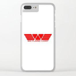 Weyland Corp Clear iPhone Case