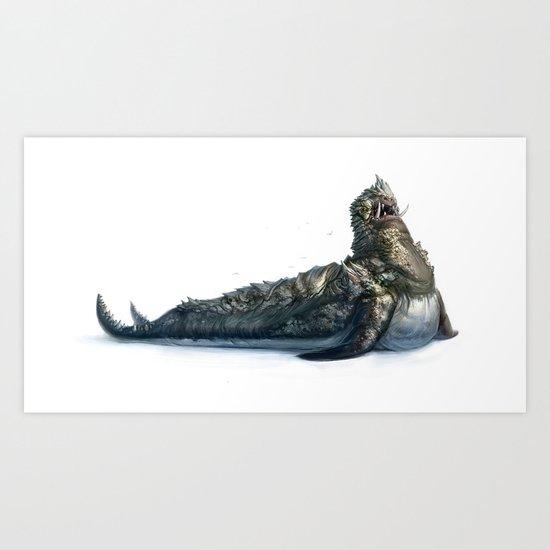 Colossal Sea Beast Art Print