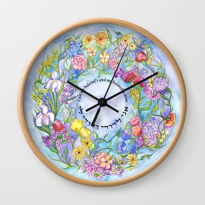 Ani L'Dodi - I am my beloved's Wall Clock