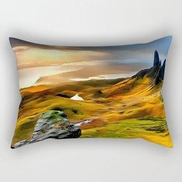 Old Man of storr (Painting) Rectangular Pillow