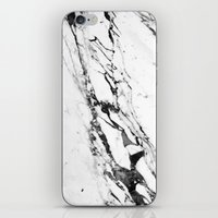 white marble iPhone & iPod Skins featuring Marble by Judith Abbott