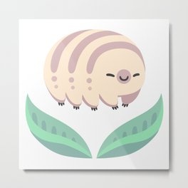 Kawaii tardigrade Metal Print