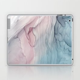 Calming Pastel Flow- Blush, grey and blue Laptop & iPad Skin