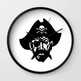 Captain Kidd II (The Rude Pirate) Wall Clock