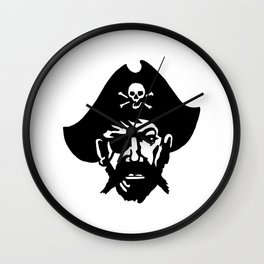 Captain Kidd II (The Rude Pirate) Wall Clock