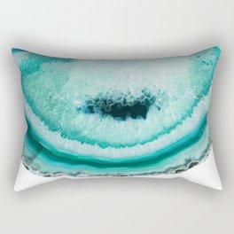 turquoise agate slice Rectangular Pillow