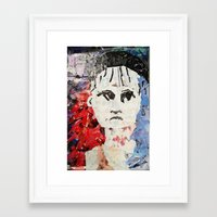 les miserables Framed Art Prints featuring LES MISERABLES by JANUARY FROST