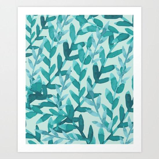 Lush Blue Art Print