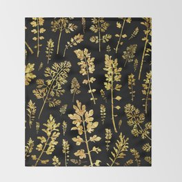 parsley of gold Throw Blanket