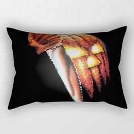 Halloween Pumpkin Stained Glass Rectangular Pillow