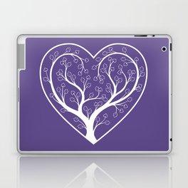 Ultraviolet Love Grows, heart shaped tree Laptop & iPad Skin