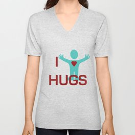 I heart Hugs Unisex V-Neck