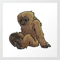 bigfoot Art Prints featuring Bigfoot by Savannah Horrocks