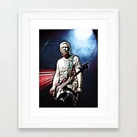 u2 Framed Art Prints featuring U2 / Adam Clayton by JR van Kampen