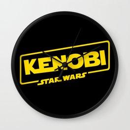 Kenobi - Title Wall Clock