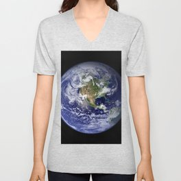 Planet Earth - The Blue Marble From Space Unisex V-Neck
