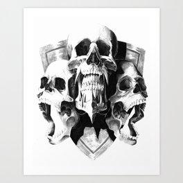 ominous dark without type Art Print