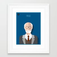 freud Framed Art Prints featuring Freud by Diretório do Design