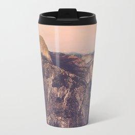 Yosemite, Smokey Sunset on Half Dome from Glacier Point Travel Mug
