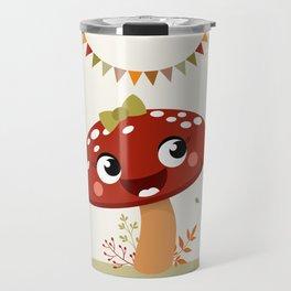 Champignon rouge Travel Mug