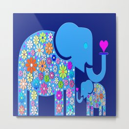 ELEPHANT LOVE Metal Print