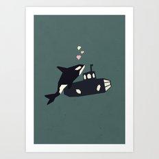 K is for Killer whale Art Print
