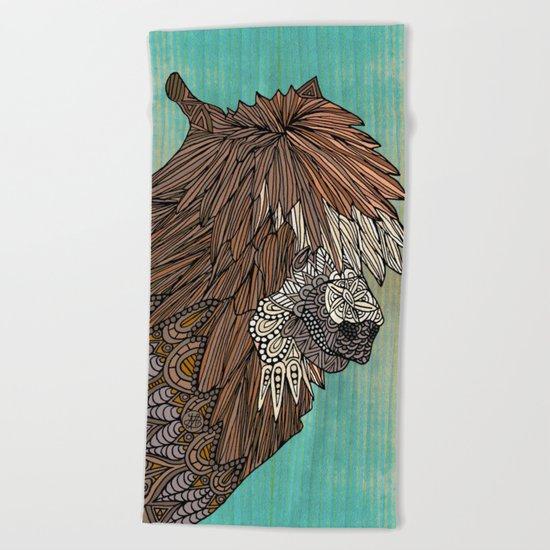 Ornate Llama Beach Towel