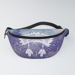 Your Vibe Attracts Your Tribe - Foggy Forest Fanny Pack