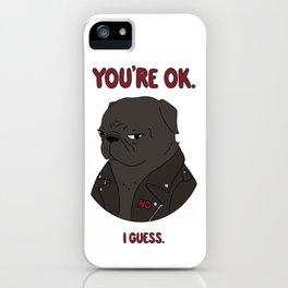 Mean Puggin' iPhone Case