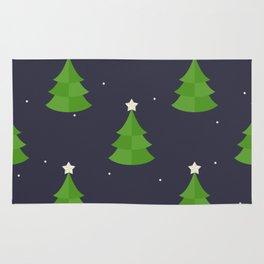 Green Christmas Tree Pattern Rug