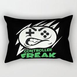 Funny Gamer Controller Freak Humorous Saying Pun Gift Rectangular Pillow