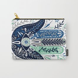 Hamsa Hand – Navy Palette Carry-All Pouch