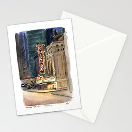 Chicago Theatre Nocturne Stationery Cards