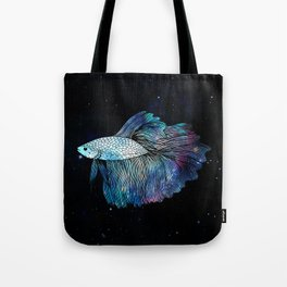 Betta Fish Galaxy Tote Bag