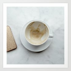 Empty Coffee Cup Art Print