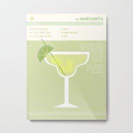 Margarita Cocktail Art Print Metal Print