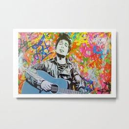 Rare Bob Dylan Lithograph Pop Art Concert Poster Metal Print