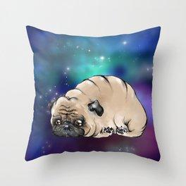 Celestial Pug Throw Pillow
