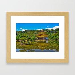 Kinkaku-ji /  Temple of the Golden Pavilion / Japanese Temple / Kyoto / Gold Temple / Japan Framed Art Print