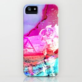 Trippy Astronaut in Space Paint iPhone Case