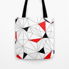 Geo - red, gray, black and white. Tote Bag