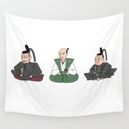 Nobunaga, Hideyoshi, Ieyasu_japanese historical heroes Wall Tapestry
