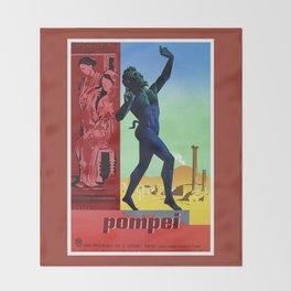 Pompei Pompeii Italian travel Throw Blanket