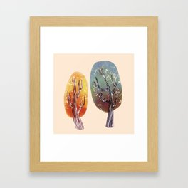 Whimsy Trees Framed Art Print