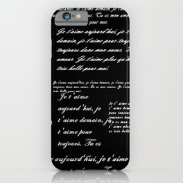 French Poetry Black iPhone Case