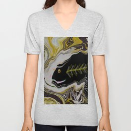 Abstract FISH ART Unisex V-Neck