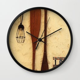 baker's peel on the wall Wall Clock